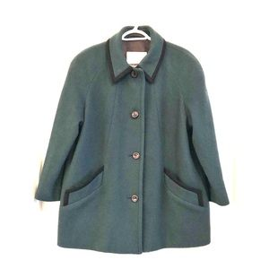 Vintage London Fog forest green overcoat